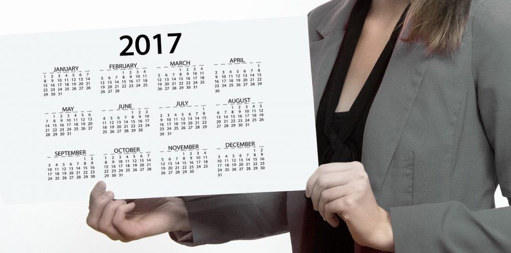 年カレンダーを表示する